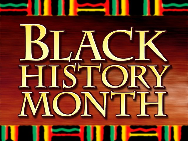 Black Powerpoint History Template Month