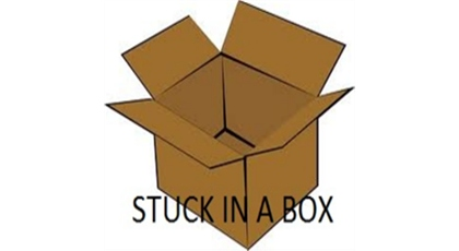 stuck in a box